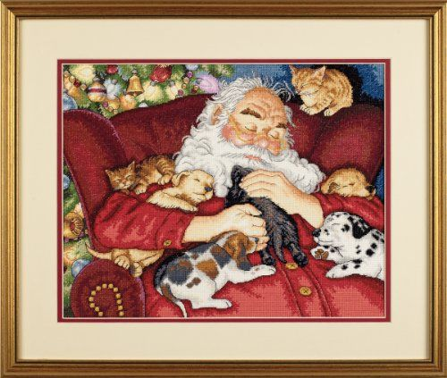 father christmas cross stitch charts finishes - Google Search: