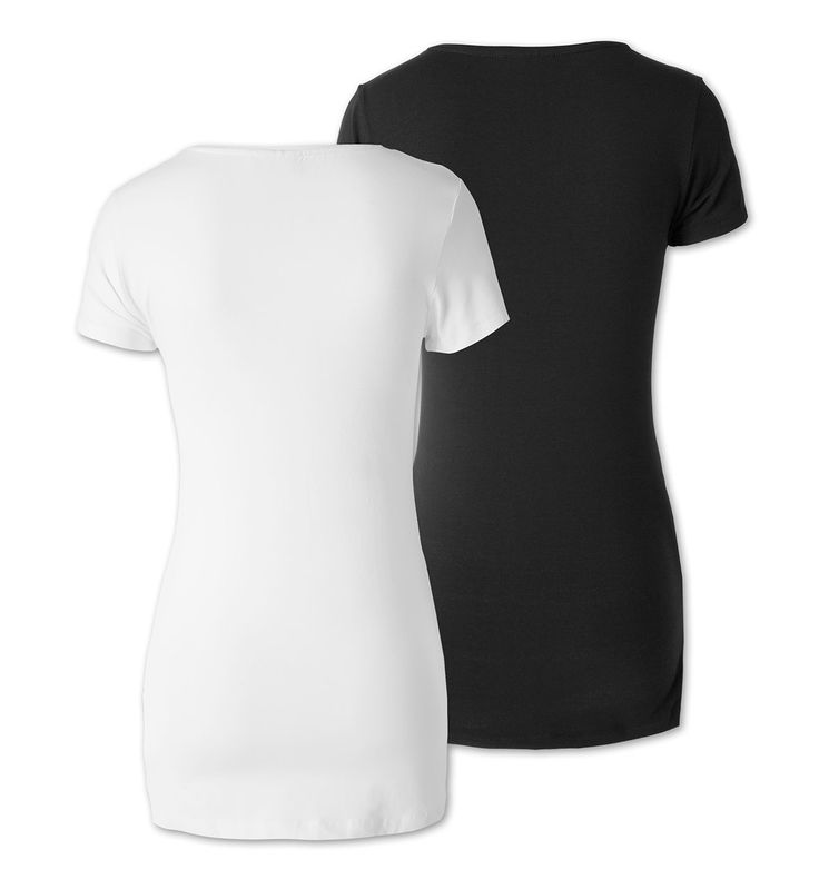 Backimage View Umstands-T-Shirt in schwarz / weiss