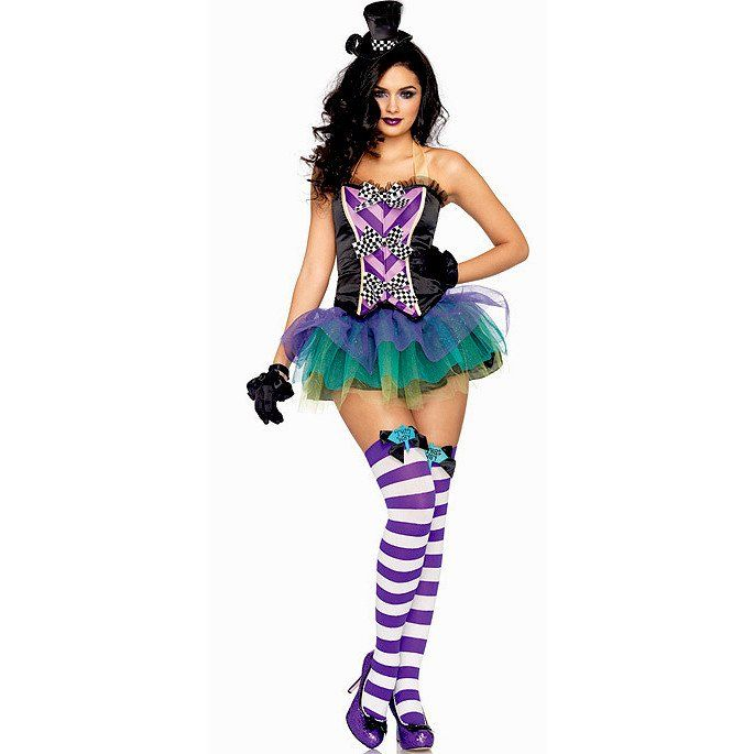 Four Piece Mad Hatter Costume