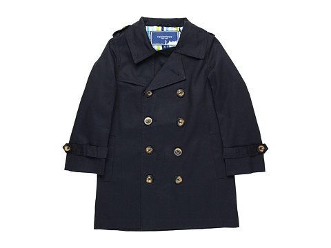 Toobydoo Boys' Trench Coat (Toddler/Little Kids/Big Kids) Navy -