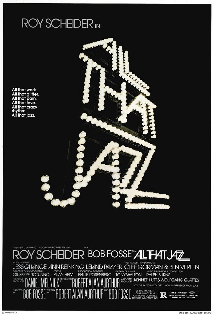 All That Jazz: Director/choreographer Bob Fosse tells his own life story as he details the sordid life of Joe Gideon (Roy Scheider), a womanizing, drug-using dancer.