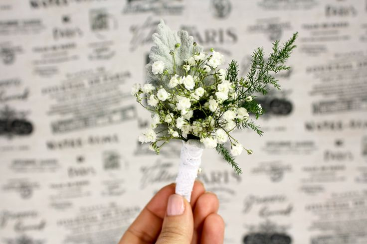 These pretty little guys are so simple to make and they add a fun twist on the traditional boutonniere.  Easy DIY Baby's Breath Boutonniere. get the full step by step here: http://www.confettidaydreams.com/easy-diy-babys-breath-boutonniere/
