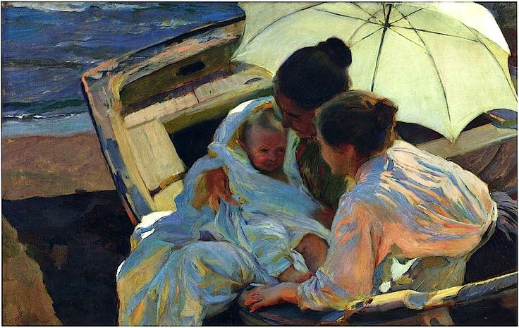 After the Bath - Joaquin Sorolla y Bastida - 1902