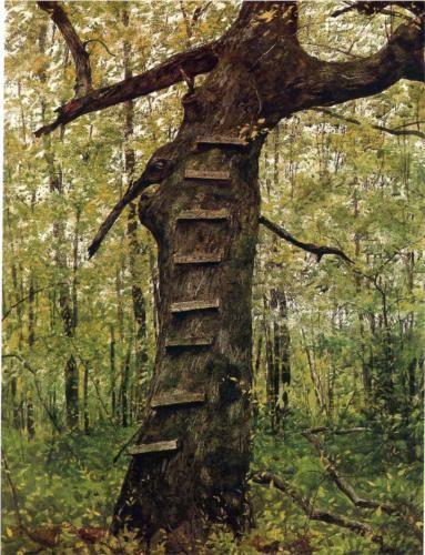 Steps - Jamie Wyeth - watercolor - 1972