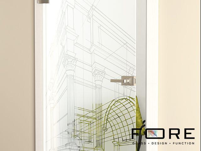 Zbliżenie na wzór Rome, www.fore-glass.com, #drzwi #drzwiszklane #drzwiwewnetrzne #szklane #glassdoor #glassdoors #interiordoor #glass #fore #foreglass #wnetrza #architektura