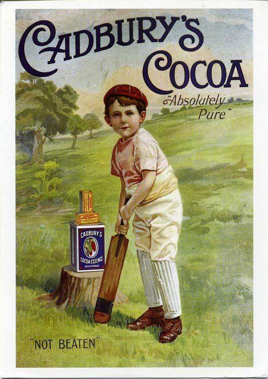 English chocolate poster for Cadbury