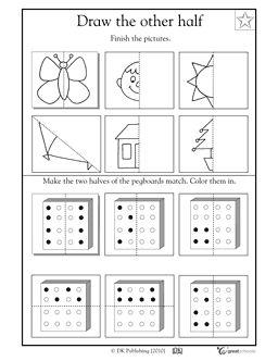 Draw the other half! - Worksheets & Activities | GreatSchools
