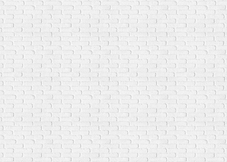 Fotobehang: Witte Bakstenen Muur