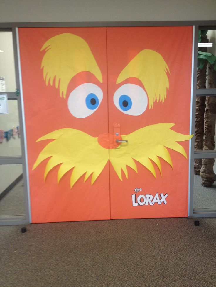 Library door decorations- The Lorax | Education ...