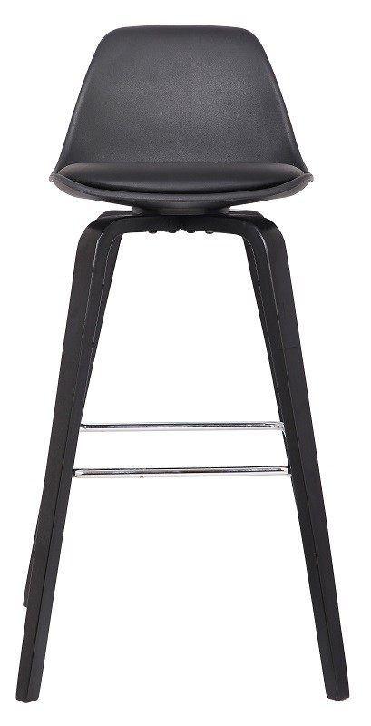 Zena+Barstol+-+Svart+-+Enkel+og+stilet+barstol+med+sorte+ben+og+sæde.+Højden+på+ryglænet+og+det+polstrede+sæde+af+kunststof+er+med+til+at+give+en+god+komfort.+Det+enkle+design+gør,+at+stolen+vil+passe+ind+i+alle+hjem+og+er+især+velegnet+til+hjemmebaren,+hvor+højden+på+stolen+er+helt+optimal.+Barstolen+findes+i+andre+farver.+