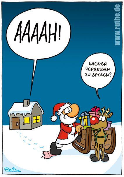 weihnachtsmann rentier vergessen spülem toilette   Lustig ...
