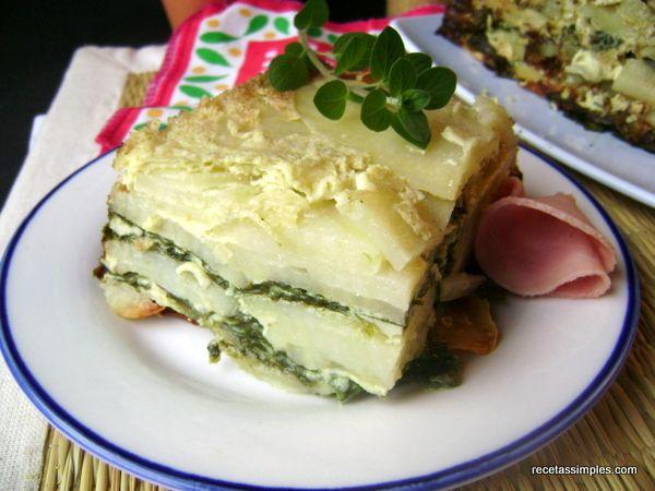 milhojas_de_papa_y_espinaca | Food - Veggies | Pinterest