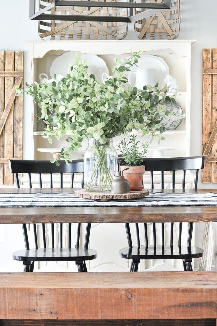 35 beautiful farmhouse table centerpiece ideas dining