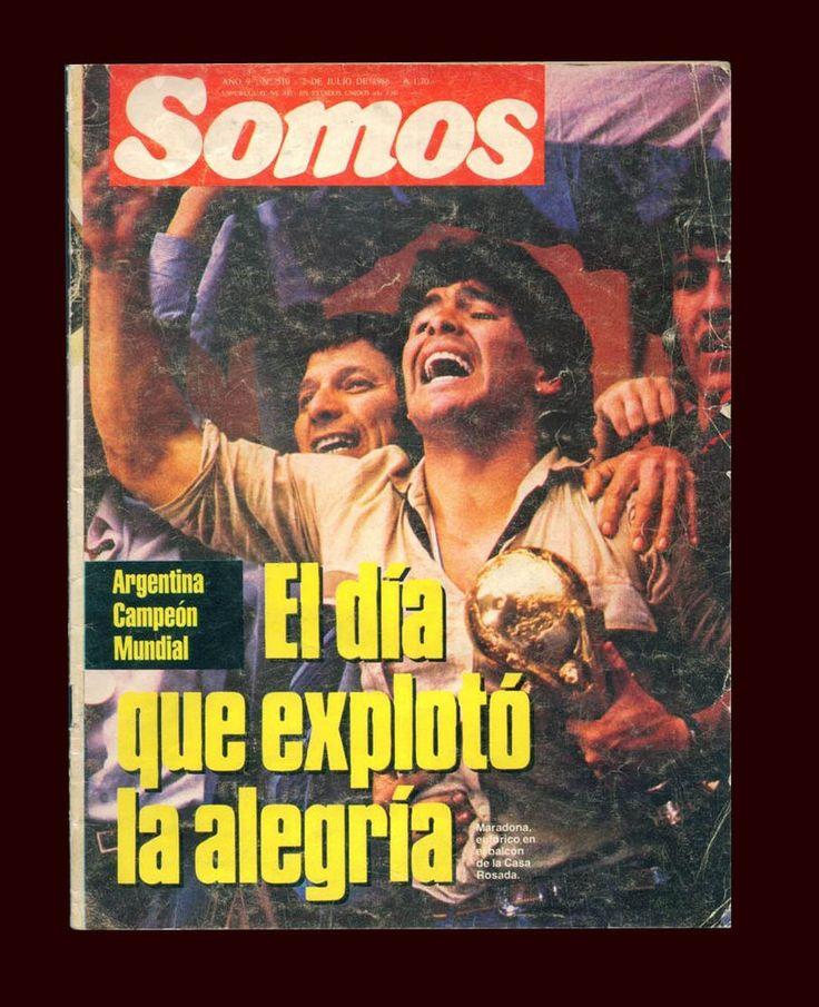 SOCCER WORLD CUP 1986 MARADONA -  ARGENTINA World Champion - Magazine  | eBay