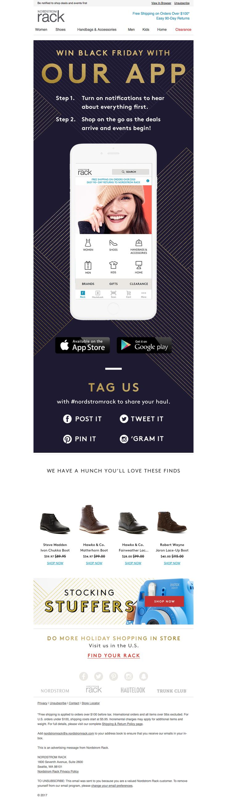 Nordstrom Rack: Win on Black Friday with our App