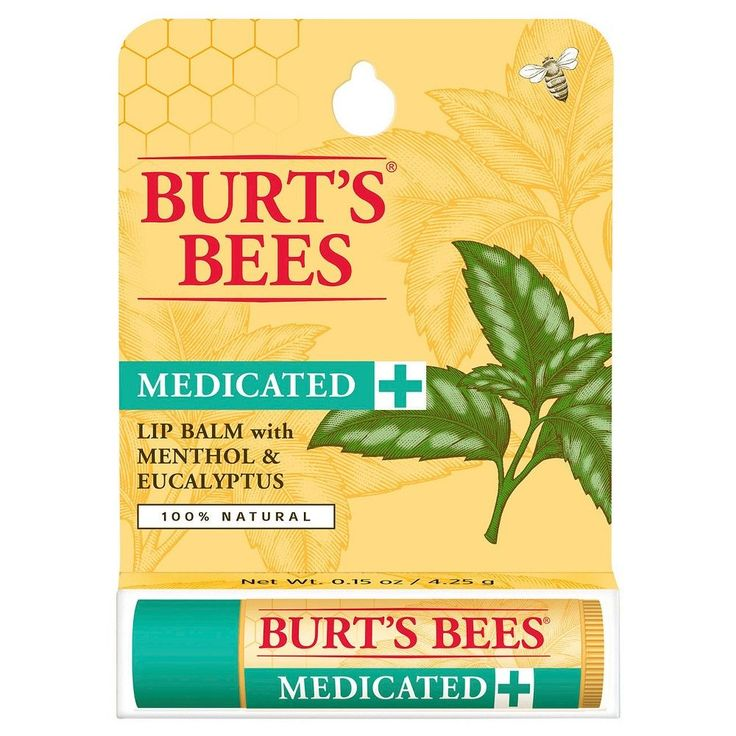 Burt's Bee's Medicated Lip Balm with Menthol & Eucalyptus Blister Box 1 ct