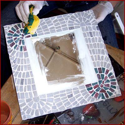 Mosaico Veneciano - Como hacer un espejo veneciano Porton Artesano