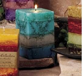 Soothing Four Layer Square Pillar Candles
