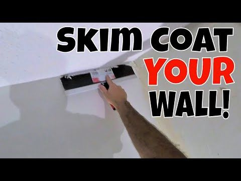 How to Skim Coat a Wall after Wallpaper Removal Step by ...