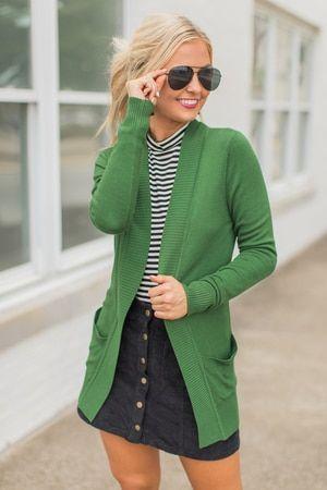 Solid Reputation Cardigan Olive #Women #Fashion
