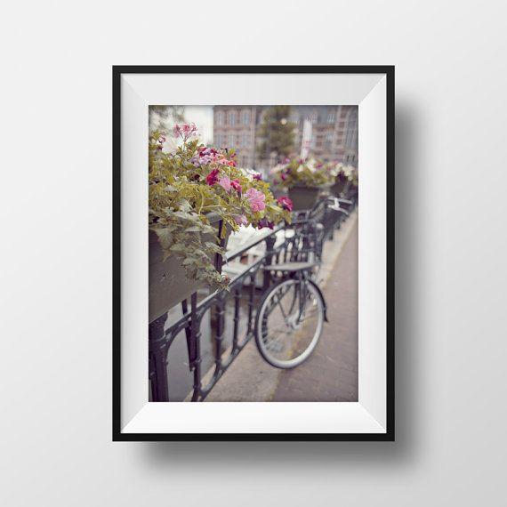 Amsterdam print bike photography prints by BonVoyageStudio on Etsy