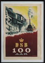 Aage Rasmussen,litografisk plakat for DSB