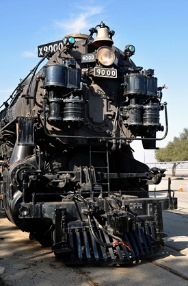 Union Pacific 4-12-2 9000. Its on display at the Southern California Chapter of the Railway & Locomotive Historical Societys museum in Pomona, Calif. Eighty-eight were built between 1926 and 1930. Only this one, the prototype, exists today. I