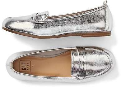 Gap Silver penny loafers