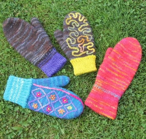 Lucy's newest pattern: the Selkirk Felted Mittens!