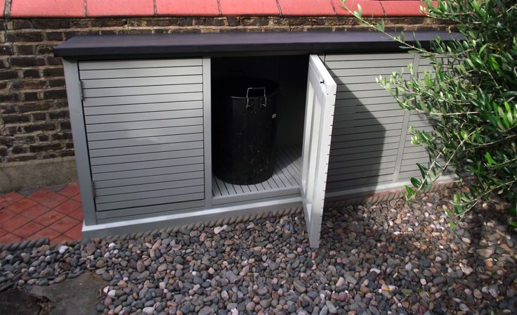 4 Bay Bin Store with EPDM roof