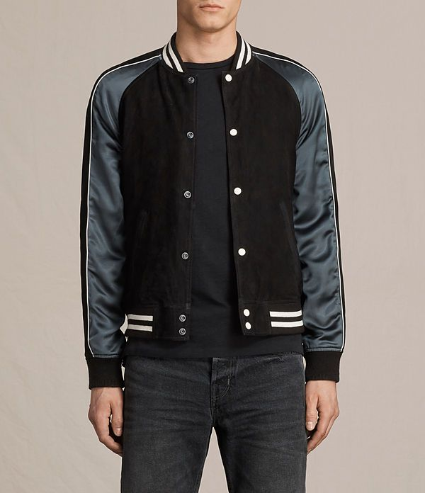 AllSaints New Arrivals: Epton Suede Bomber Jacket
