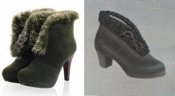 1940s Gaytees Style Fur Trimmed Womens Winter Snow Boots