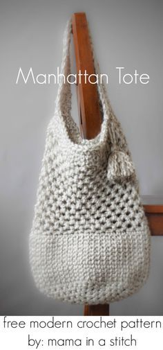 Crochet pattern for nice sized bag- not too big ༺✿ƬⱤღ http://www.pinterest.com/teretegui/✿༻