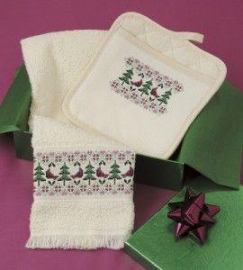 Winter Cross Stitch Kitchen Set   Cross Stitch Crafts   Sewing Crafts — Country Woman Magazine