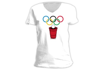 Beer Olympics Tshirt    Tip: Try iron on logo, put year on the sleeve, or use tank tops