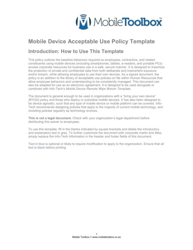 Explore Our Example Of Corporate Cell Phone Policy Template For Free Policy Template Policies Bring Your Own Device