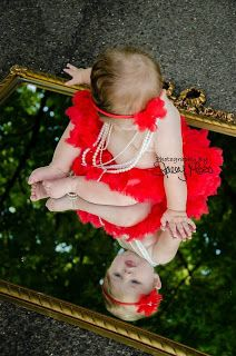 Baby girl's 6 month photo shoot. Her mom brought the Mirror to use - LOVE IT !