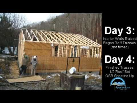 OSB, Ladders, and Metal Roofing - Build a Workshop 12 - YouTube