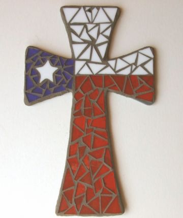 Texas Flag Cross