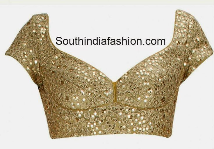 gold color saree blouse