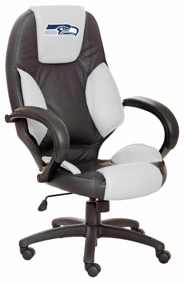 Seattle Seahawks Leather Desk Office Executive Chair