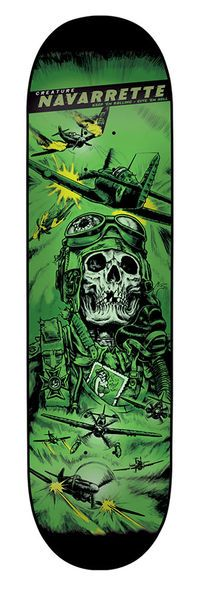 Creature Skateboards: Decks: 8.8in x 32.5in Navarrette Give`em Hell Deck