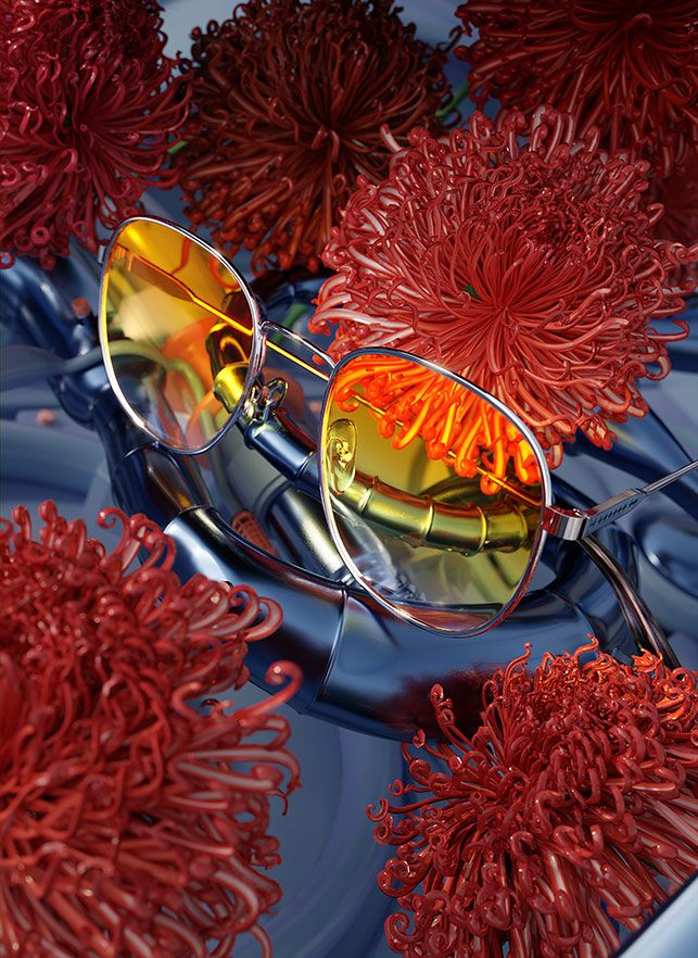 Ada Sokól's 3D Photorealism For Etnia Barcelona Latest Collection Eyewear Glasses Sunglasses Eyeglasses