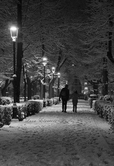 Passeggiata tra la neve