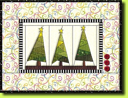 """Free paper piecing Quilt pattern """"Winter Forrest"""" by Regina Grewe. Other free pp patterns too."""