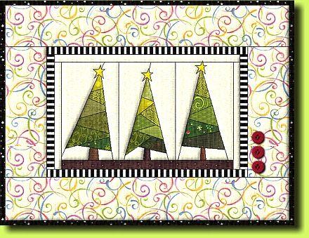 """Free paper piecing Quilt pattern """"Winter Forrest""""  by Regina Grewe"""