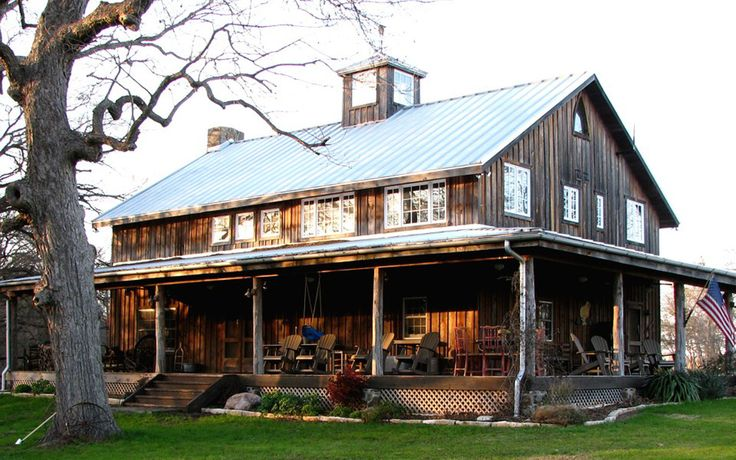Meyer barn home heritage restorations dream house for Barn style house plans with wrap around porch