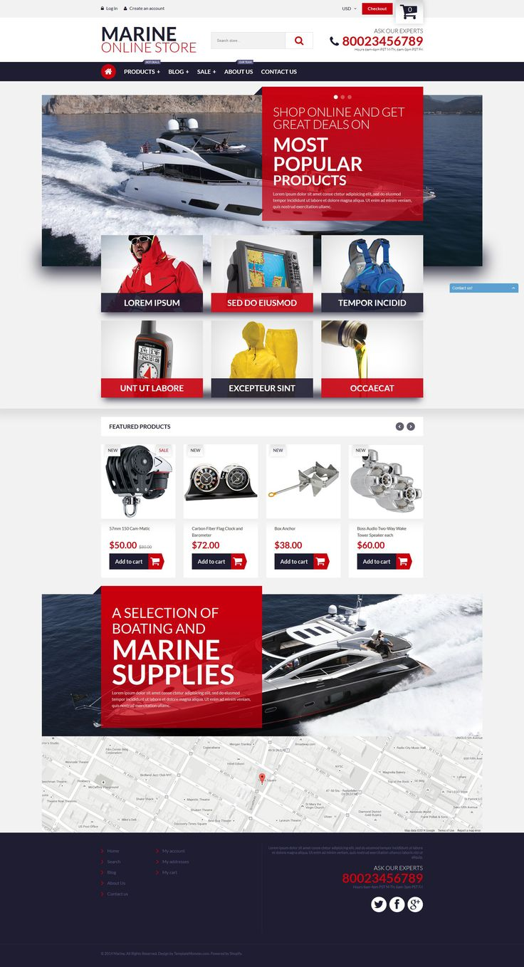 Shopify Template , Marine Online Store