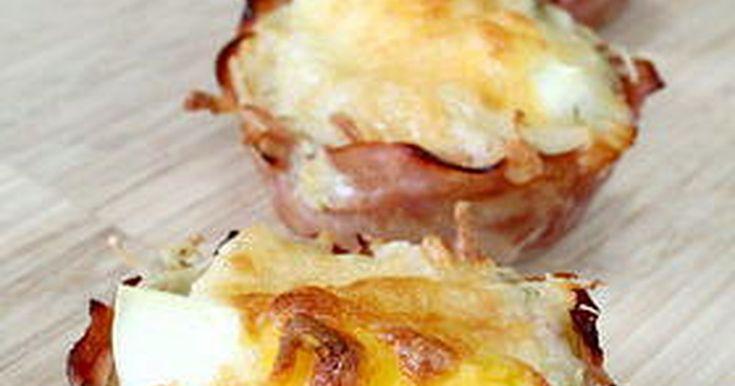 ハムカップのジャガイモマフィン。朝食やおやつにどうぞ。