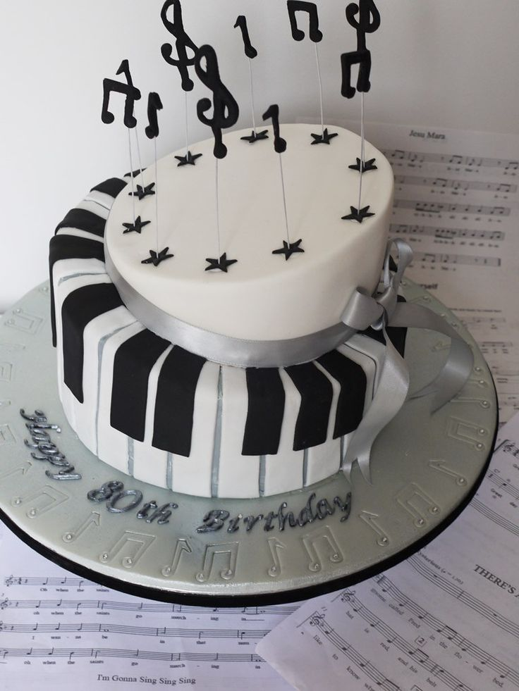 Best Piano Cakes Images On Pinterest Piano Cakes Music Cakes - Cake happy birthday song